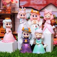 Adorável anjo cego caixa figura brinquedos para crianças menina aniversário presente dobra princesa ornamentos