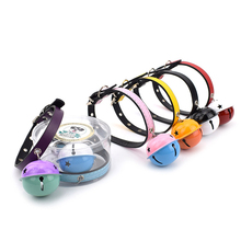 Dog Bell Cat Collar Safety Adjustable With PU Material 5 Colors Pet Product Small Personalized Puppy Collars Leash Ca