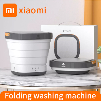 xiaomiPortable Mini Folding Clothes Washing Machine Bucket Automatic Home Travel Self-driving Tour Underwear Foldable Washer 1