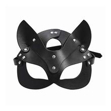 Seks kobiety seks maska Catwoman maska na oczy Party Cosplay seksowny kostium niewolnik rekwizyty lateksowe maski SM maski dla dorosłych tanie tanio CN (pochodzenie) WOMEN Kostiumy