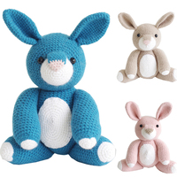 2019 cute handmade bunny doll crochet toy gift knit doll best birthday gift (finished, non DIY)