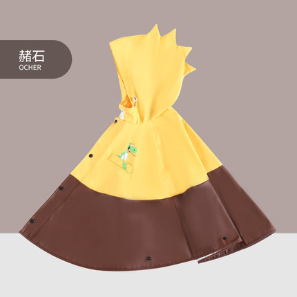 Creative Cartoon Children Raincoat Boys and Girls Long Kids Rain Coat Jacket Kindergarten Yellow Waterproof Cute Rain Poncho 4