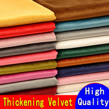 Thick Velvet Fabric Plush Sofa Pillow Cloth Fabrics for Sewing Wedding Sequin By The Meter Brocade Pink Black White Blue Red DIY