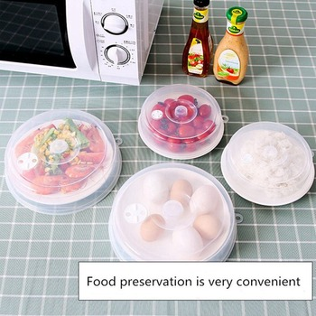 Microwave Oven Heating Cover Fresh Cover Household High Temperature Splash-proof Oil Anti-evaporation Dish Cover Kitchen Tools image
