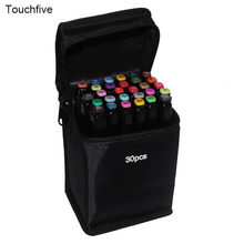Touchfive 30Color Sketch Markers Alcohol Oil Ink Dual Brush Pen Multi Package Sale Manga Student Drawing Art Supplies For Artist