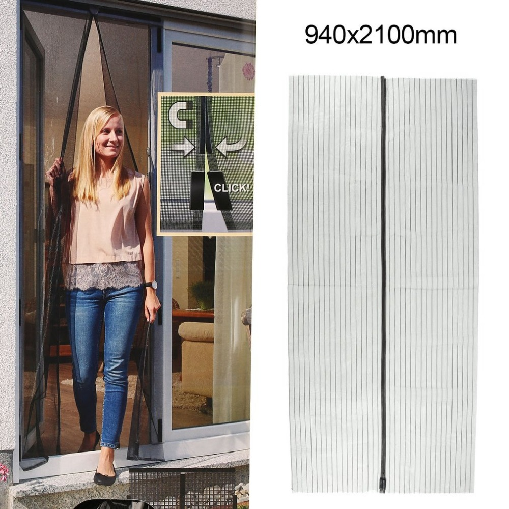 New Summer Magnetic Mesh Net Curtains Anti Mosquito Insect Fly Bug Curtains Automatic Closing Door Home Kitchen Screen Curtains