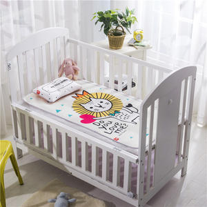 Crib Ice silk mat Cool in summer Soft Breathable Baby Bed Mattress Cover Cartoon Newborn Bedding For Cot Size 120*60cm