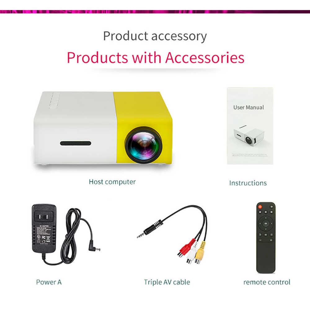 LEJIADA YG300 LED 미니 프로젝터 320x240 픽셀 지원 1080P YG-300 HDMI USB 오디오 휴대용 프로젝터 홈 미디어 비디오 플레이어