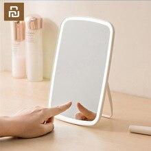 الأصلي يوبين ذكي المحمولة مرآة لوضع مساحيق التجميل سطح المكتب كشاف ليد محمول خفيف قابل للطي مرآة عنبر سطح المكتب