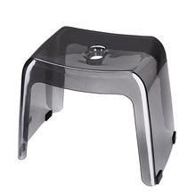 PCTG Bathroom Stool Thickened Non-Slip Low  Entrance Shoe Changing Children Adult Bathing Square
