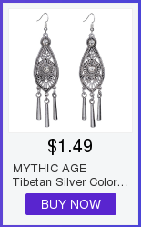 MYTHIC AGE Tibetan Silver Color Carved Flower Vintage Ethnic Drop Dangle Earrings Retail Jewelry Jewellery Gift For Women Girls 13