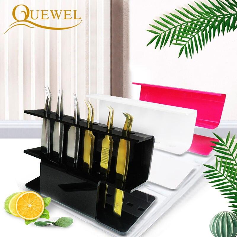 Tweezer Stand Eyelash Extension Acrylic Tweezers Shelf 6pcs Eyebrow Tweezers Storage Holder Tweezer Eye Lash Beauty Make Up Tool