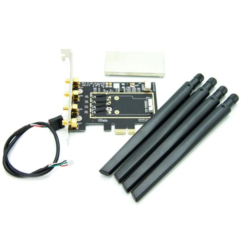 For Broadcom BCM94331 BCM94360CD BCM943602CDAX BCM943602CS WLAN Card Desktop PCI-E Converter Adapter For Apple WiFi Card