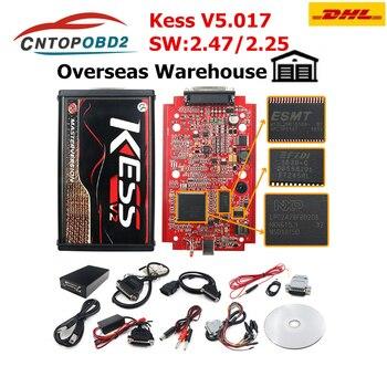 DHL FREE KESS V2 V2.47 V5.017 EU Red ECM Titanium LED Online Master Version BDM Frame ECU Chip Tuning OBD2 car/truck Programmer