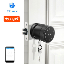 TTLock or Tuya APP Bluetooth Remote Control Fingerprint Lock Password Code Number Card Lock With Key