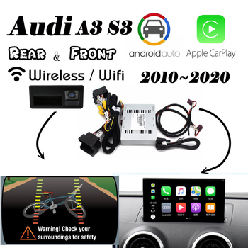 Wireless Carplay For Audi A3 S3 RS3 8v MMI3g 2010~2020 interface Rear Front camera Android Auto Original Display Improve decoder image