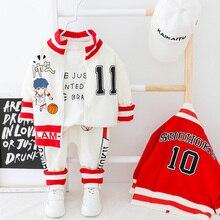 Детская одежда для маленьких мальчиков пальто на молнии + штаны спортивный комплект с надписью для малышей, комплект одежды с длинными рукавами, желтая, белая одежда для малышей
