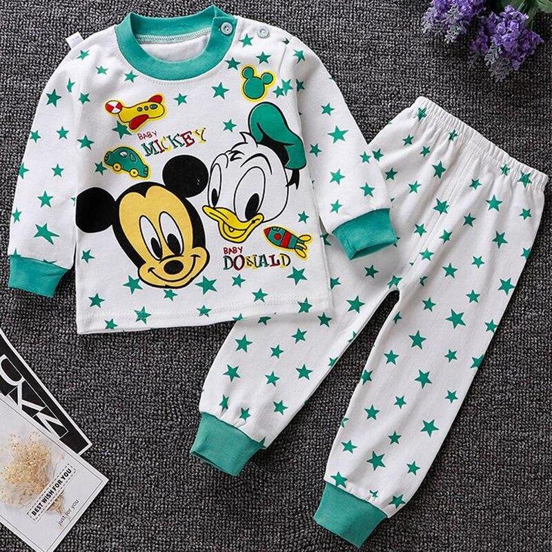 תינוק בגדי תינוק של סטי יילוד תינוק בני בנות קריקטורה ברווז בגדי 2PCS תינוק פיג 'מה יוניסקס ילדים בגדי סטים 0-24M
