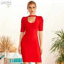 Adyce 2021 новое летнее женское Красное Бандажное Клубное платье