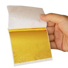 new 100Pcs 9x9cm Rose Gold Sliver Leaf Sheet Foil Paper Imitation Gilding Art Craft DIY Design Frame Decorative Material