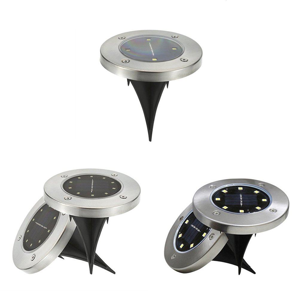 Led Solar Lawn Lamp Solar Power Buried Light Under Ground Lamp Outdoor Path Way Garden Decking Light White Warm White