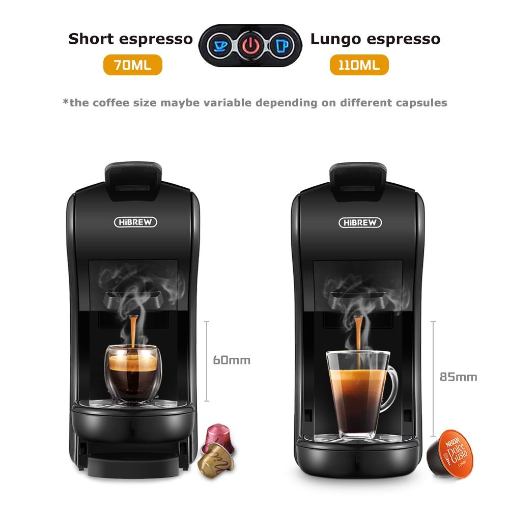 HiBREW 19 Bar 3 in 1 & 4 in 1  Multiple  Capsule Espresso Coffee Machine, Pod  Coffee Maker Dolce gusto  Nespresso  Powder  H1 5