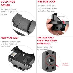 Image 3 - Andoer C15 kamera kafesi + üst kolu + 15mm çubuk taban plakası kiti alüminyum alaşım soğuk ayakkabı dağı Nikon z6/Z7 DSLR kamera