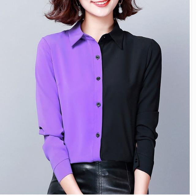 2019 Autumn Fashion Women Shirts Casual Spliced Women Clothing OL Plus Size Long Sleeve Leopard Women Blouses 6014 50 5