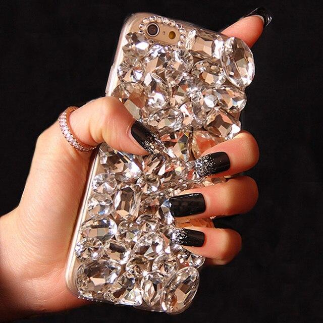 Sunjolly Fox diamant strass étui Bling téléphone housse coque pour Samsung Galaxy S20 Ultra S10 S9 S8 Plus S7 S6 bord Note 10 9 8
