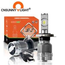 CNSUNNYLIGHT Auto Scheinwerfer Birne H4 H7 H11 LED H3 9005 HB3 9006/HB4 High/Low Strahl 12000LM Weiß automotive Wichtigsten Licht luz 12V 24V