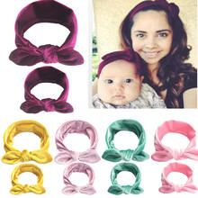 2019 Brand New 2PCS/Set Mother&Daughter Matching Velvet Headband Kids Baby Girl Women Bow Headband Hair Band Accessories Gifts(China)