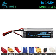 цена на 100% Capacity 4S 14.8v 5200mAh 35C LiPo Battery For RC Drone RC Cars RC Robots RC Boats toy 14.8v Rechargeable Lipo Battery 1pcs