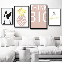 Nordic Pineapple Fresco Art And Dog Portrait Art Are Painted On The Wall Of The Poster And Printed On The Wall Of The Picture the art of usagi yojimbo