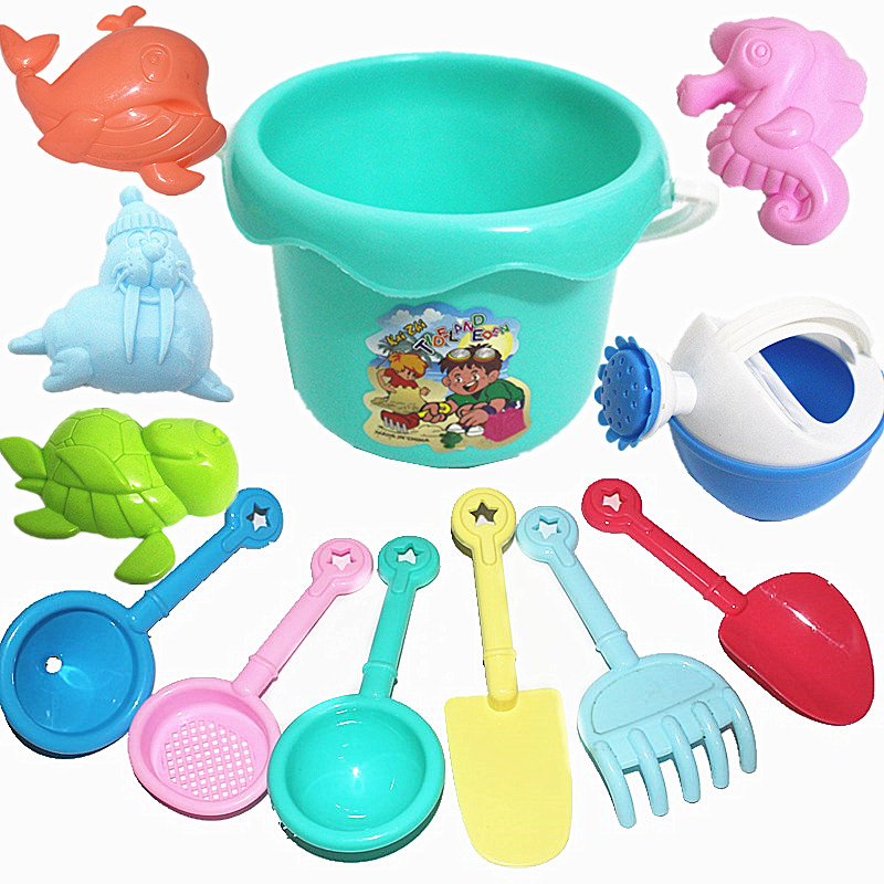 Summer Beach Baby Toys Animals Cartoon Beach Cart Bucket Set Kinetic Sand Games Water Table Brinquedo Praia Beach Cart CC50BT
