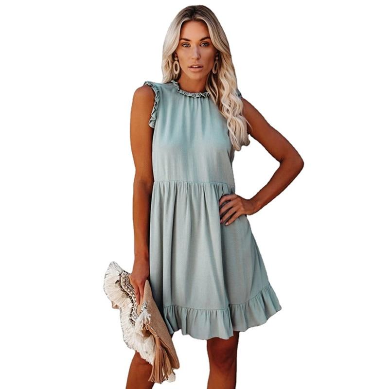 Ruffled Summer Dress for Women = 1MRK.COM