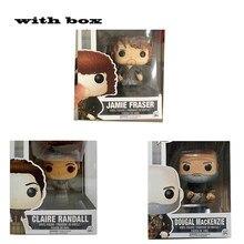 POP Outlander – figurine en PVC avec boîte, jouets pour enfants, modèle 251 # Jaime Fraser #252 Dougal macenzie #250 Claire Randall