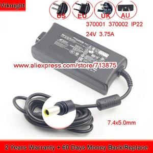 Image 1 - Echte 24V 3,75 A 90W IP22 AC Adapter für ResMed Luft Gefühl S10 370001 370002 37015 DA90A24 R370 7232 netzteil