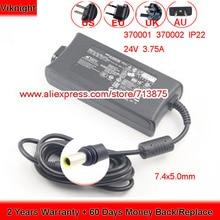 Oryginalne 24V 3.75A 90W IP22 Adapter AC dla ResMed powietrza, poczucie S10 370001 370002 37015 DA90A24 R370 7232 zasilania