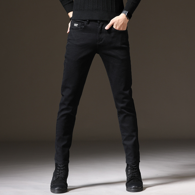 2020 New Style Black And White With Pattern MEN'S Pants Fashion Casual Slim Fit Skinny Pants Korean-style Slimming Elasticity So