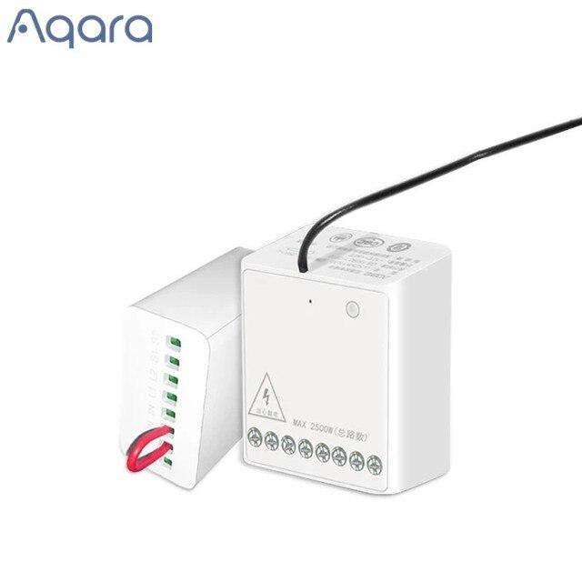 Aqara Módulo de dos vías, controlador inalámbrico de Motor de CA de doble canales para casa inteligente, nuevo