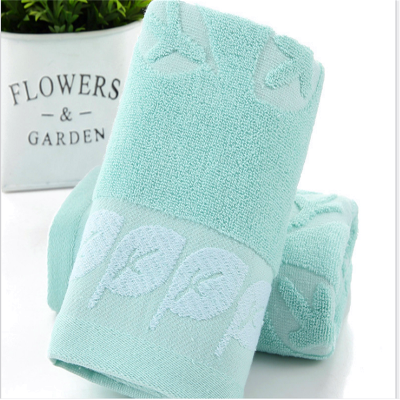 Pure Cotton Jacquard Leaf Towel, Face Washcloth For Household Goods   0108A