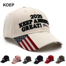 KOEP Donald Trump 2020 Cap Camouflage USA Flag Baseball Caps KEEP America Great Snapback President Hat Embroidery Drop Shipping(China)