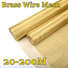 Maille de protection en fil de laiton tissée, 20-200 M, peinture en fil de cuivre, filet de filtre à Signal Non magnétique, 20, 60, 100, 200