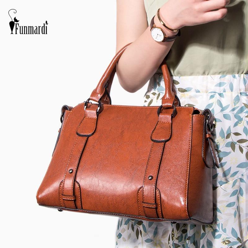 FUNMARDI High Quality Female Handbags Luxury PU Leather Shoulder Bags Lady Crossbody Bags Famous Brand Women Bags WLHB2097