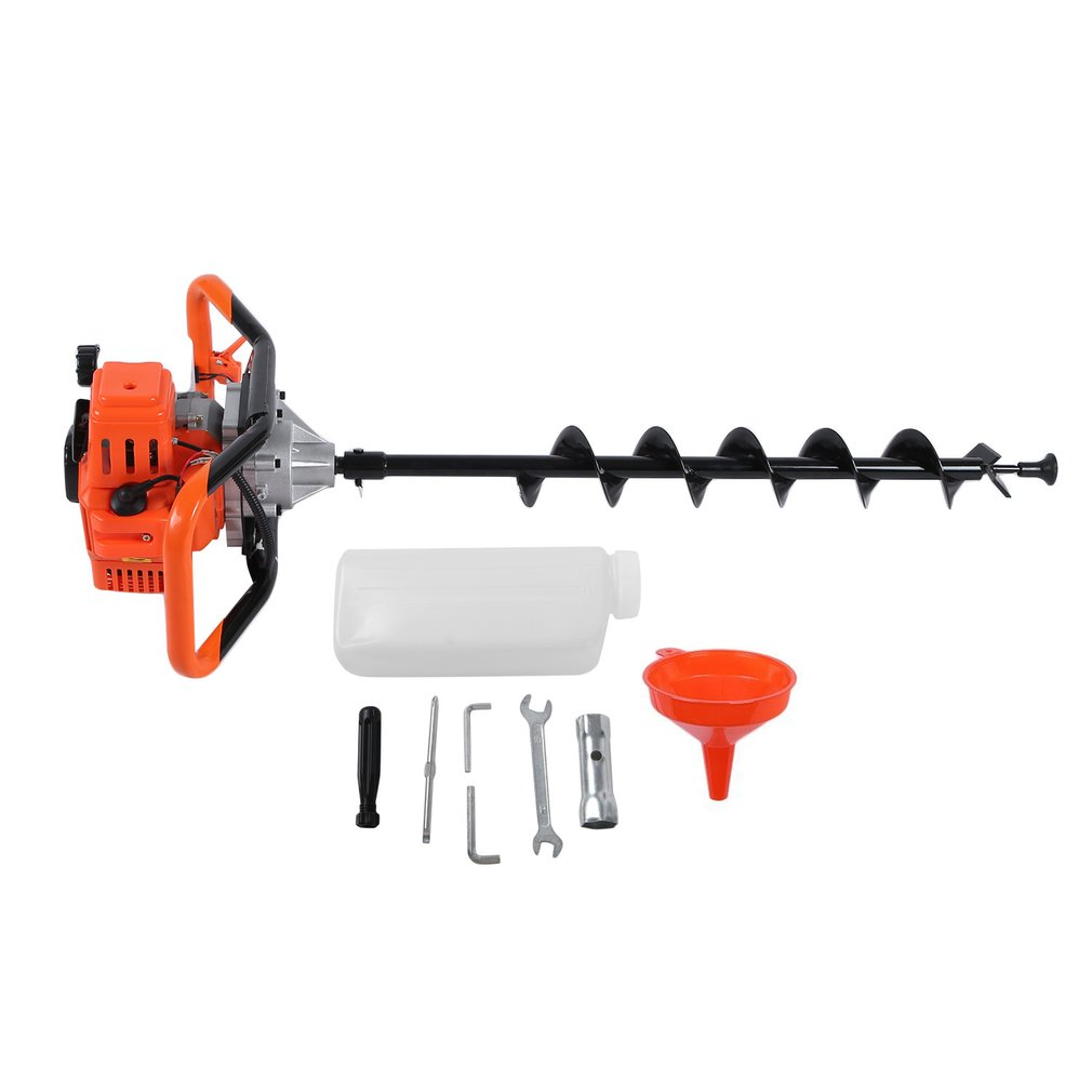 Petrol Earth 520 Auger Post Hole Diggers Borer Fence Professional Ground Drill Planting Machine 3 Bits Agricultural Tool