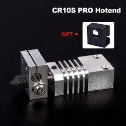 CR10S PRO Hotend Swiss MK8 buse en acier trempé dissipateur thermique bloc de titane rupture de chaleur Kit de mise à niveau d'imprimante 3D pour CR-10S PRO Printe