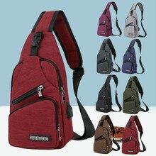 Men's Crossbody Chest Bags Men USB Charging Headphone Plug Designer Messenger Oxford Shoulder Bag Diagonal Package 2020 Travel