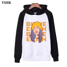 2019 New Billie Eilish Hoodie for Womens Hip Hop Autumn Warm Clothes with Print Casual Raglan Hoody Sweatshirt