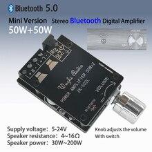ZK 502L 미니 블루투스 5.0 DC 5 24V 무선 오디오 디지털 파워 앰프 스테레오 보드 50Wx2 블루투스 앰프 앰프