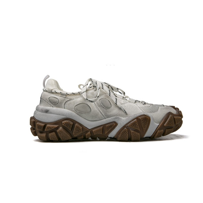 Harajuku Dos Homens Novos Running Shoes Lace Up Antiderrapante Apartamentos Plataforma Sapatilhas Sapatos Tênis de Corrida Ao Ar Livre Sapatos de Desporto Gym Workout - 4